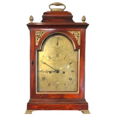 18th Century George III Mahogany Bracket Clock, 1780s