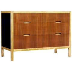 Mid-20th Century Swedish Teak and Birch Chest of Drawers