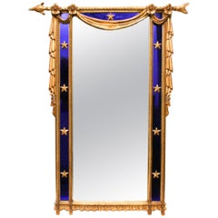 Carvers Guild Giltwood Cobalt Blue Glass Mirror