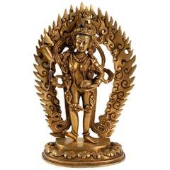 Dancing Goddess Hitting the Floor to Raise Good Geniuses, Antiquities, Tibet