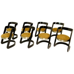Set of 8 Dining Chairs by Willy Rizzo for Mario Sabot, Italy, circa 1960