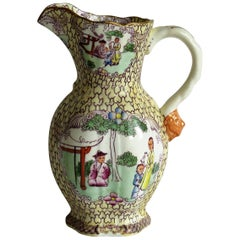 Rare Shape Mason's Ironstone Jug in Conversation Pattern, Georgian, circa 1825