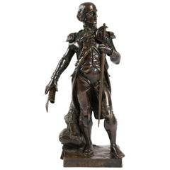 Bronze Sculpture Representing A Military Leader, 19th Century, Antiquity
