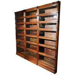Large Impressive Mahogany Globe Wernicke Bookcase