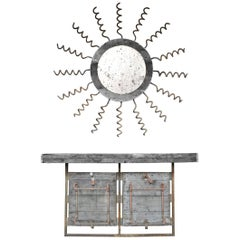 Assemblage Console and Mirror