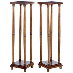 Pair of Early 20th Century Oak Arts & Crafts Stands