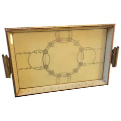 Mid-Century Modern Copper and Brass Italian Serving Tray, circa 1950