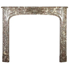 18th Century Fine Small European Marble Antique Fireplace Surround