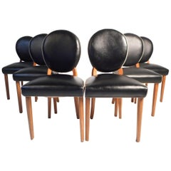 Set of 6 Midcentury Italian Dining Chairs
