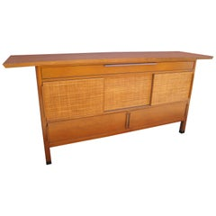 Large Sideboard with Rattan Front by Edward Wormley for Dunbar