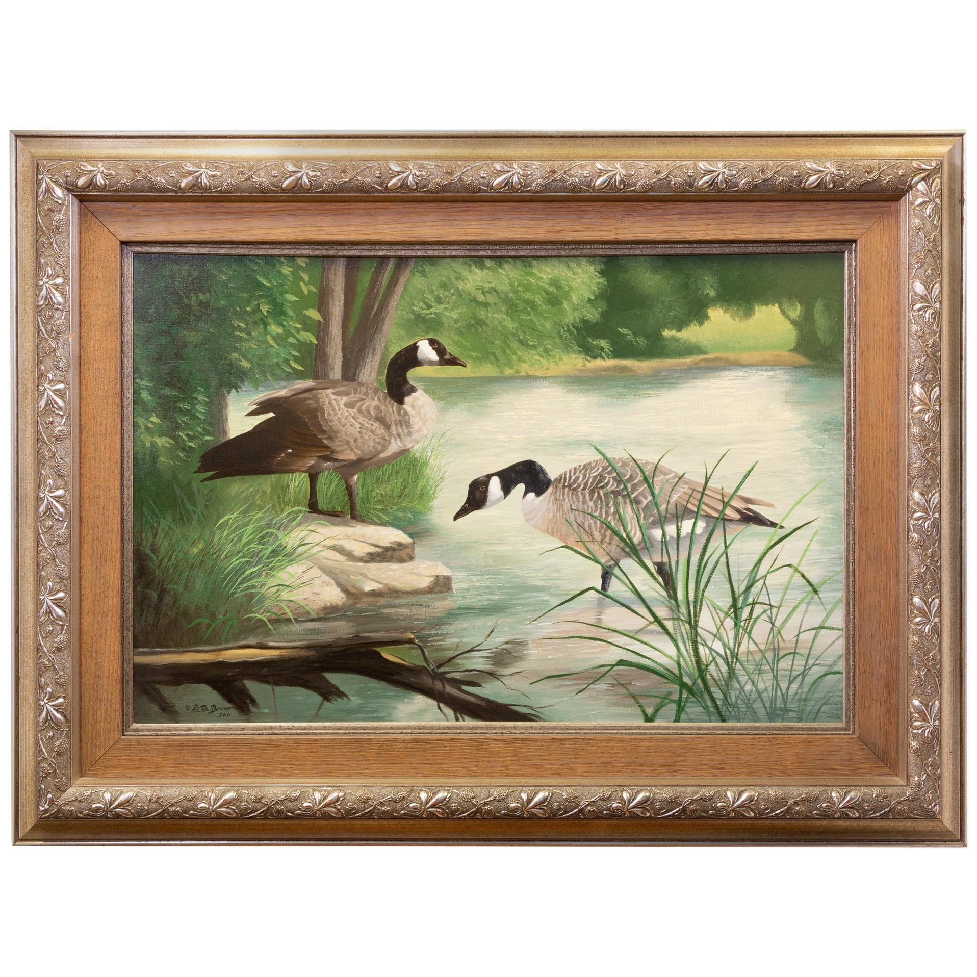 """""""Wading"""" Original Oil Painting by Peter Darro"""