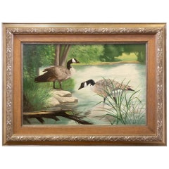 """Wading"" Original Oil Painting by Peter Darro"