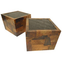 Paul Evans Style Patchwork Tables