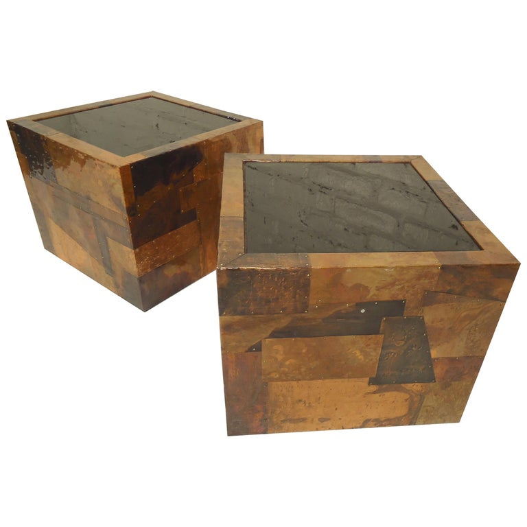 Paul Evans Style Patchwork Tables For Sale