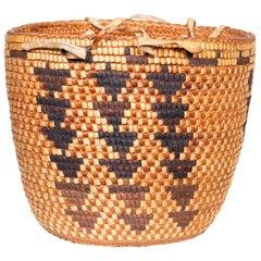 Exceptional Polychrome Klickitat/Snoquamie Basket