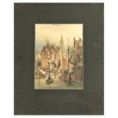 Am Fleet, At the Fleet, En Fleet by August Schliecker, circa 1880