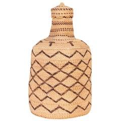 Klamath Basketry Bottle with Lid