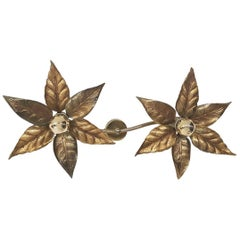 "Hollywood Regency Wall or Ceiling ""Flower"" Light by Willy Daro, Belgium, 1970s"