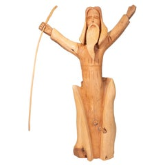 """Jesus"" Folk Art Carving by Leo Salazar"