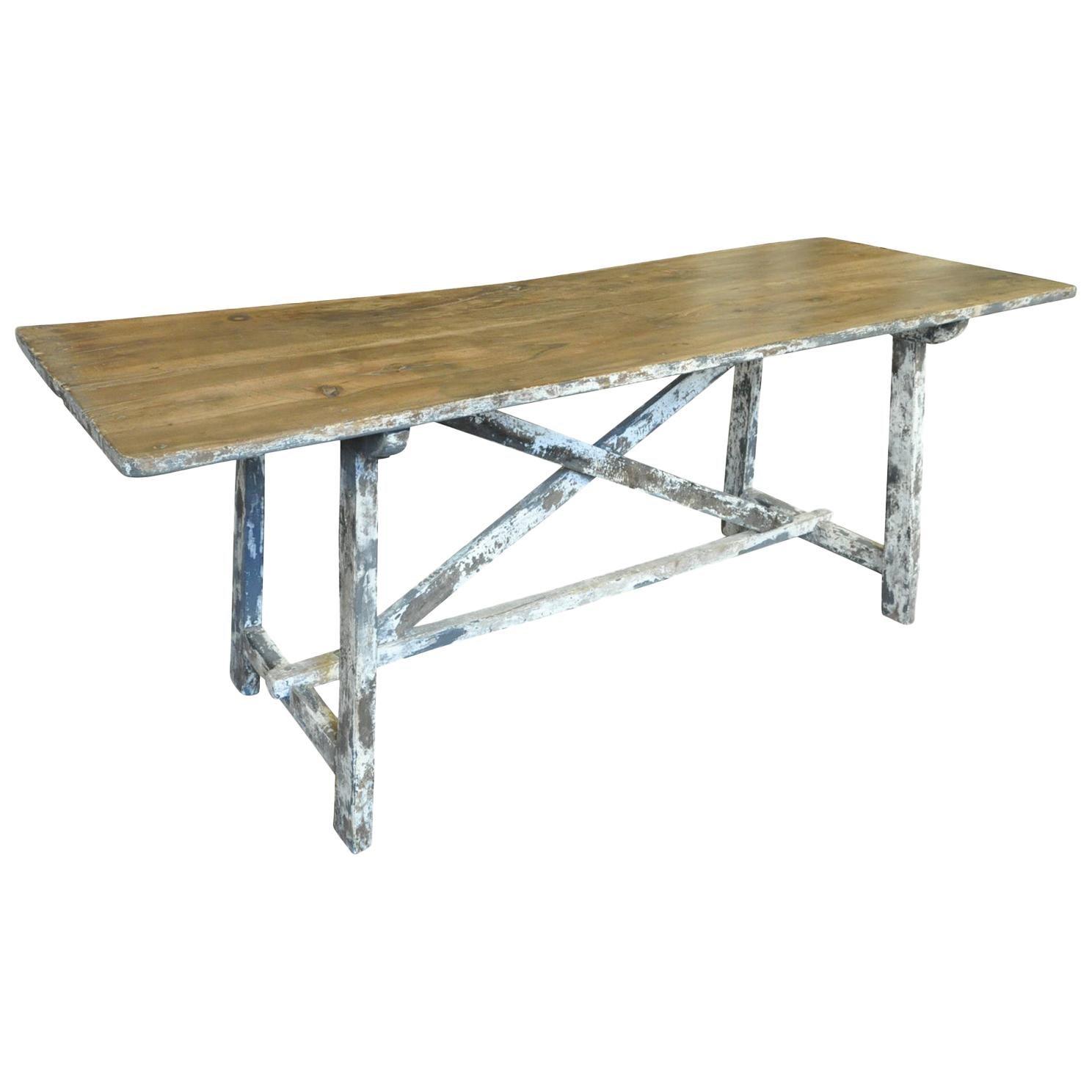 Spanish 18th Century Farm Table - Trestle Table