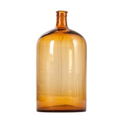 French 20th Century Amber Glass Apothecary Jar