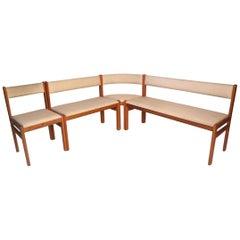 Stunning Danish Modern Upholstered Sectional Bench