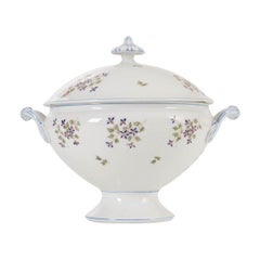 "French Old Paris Porcelain ""Cornflower"" Pattern Tureen"