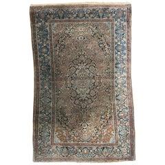 Nice Antique Kashan Style Fine Rug