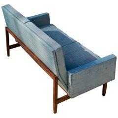 1955 Florence Knoll Walnut Settee Sofa