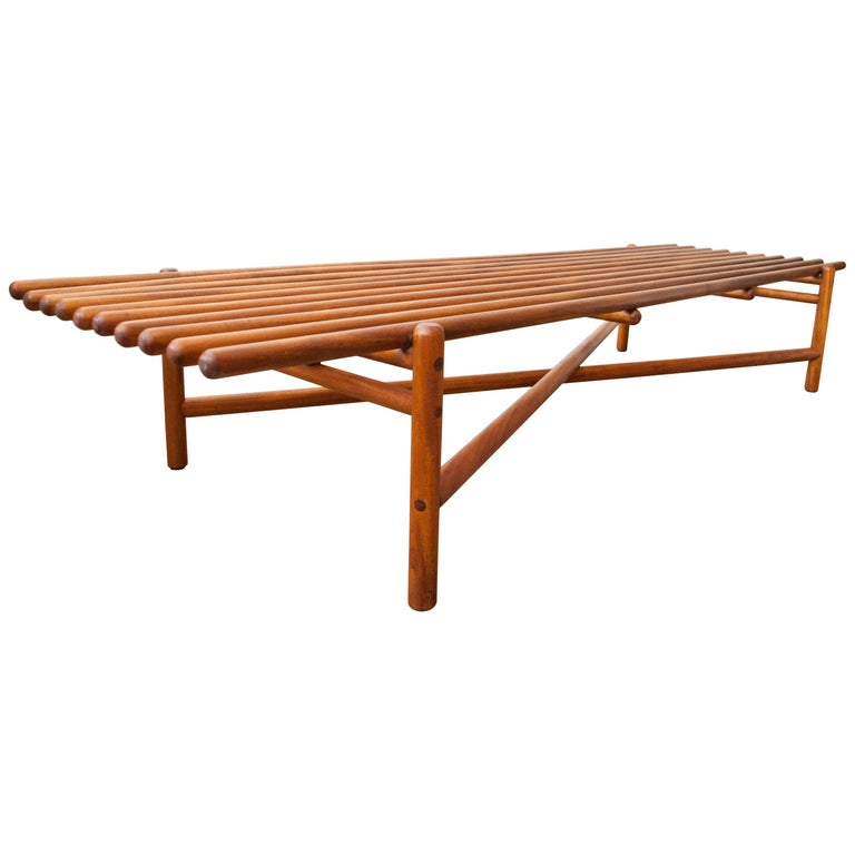 Extremely Rare Bertrand Goldberg Bench, 1952 For Sale