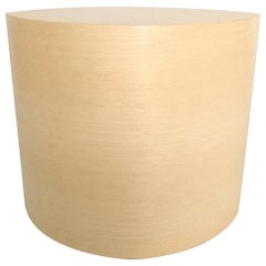 White Ash Veneer Wood Matte Lacquer Side Table, Seat