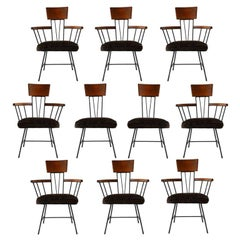 Ten Dining Chairs Designed by Richard McCarthy for Selrite