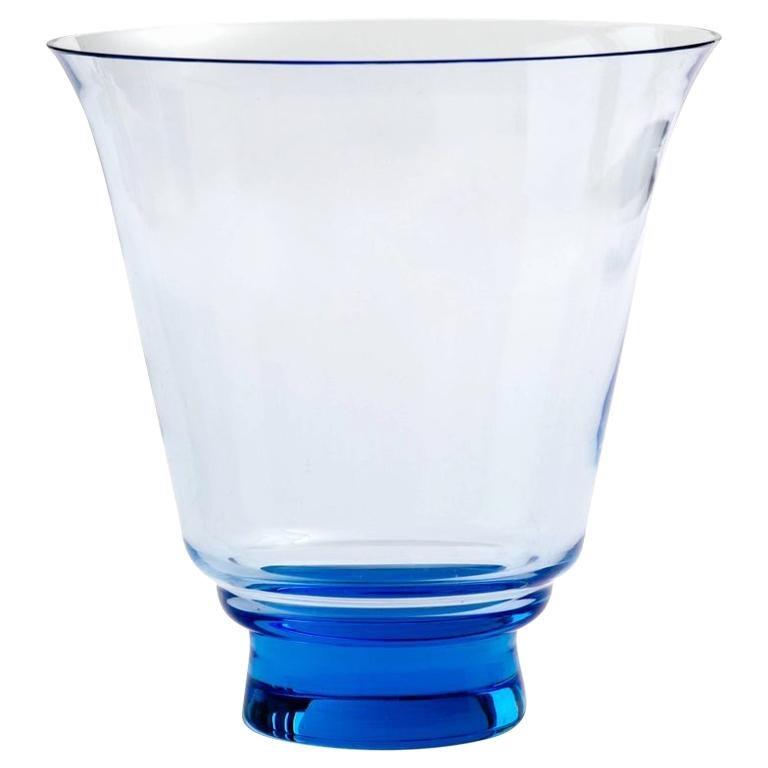 Mid-Century Modern Blown Glass Vase in Alexandrite Blue