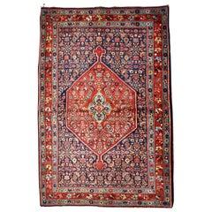 Handmade antique Bidjar Style Rug, 1900s, 1B740