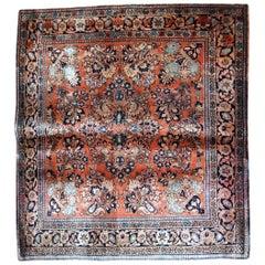 Handmade antique Sarouk Style Rug, 1920s, 1B744