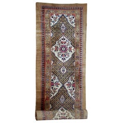 Handmade Antique Camel Hair Style Runner, 1880s, 1B556