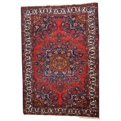 Handmade Vintage Mashad Style Rug, 1970s, 1C472