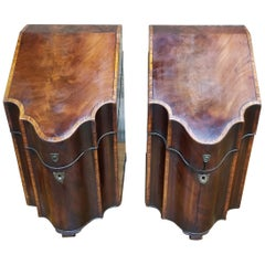 18th Century George III Knife Boxes, a Pair