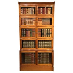 """Mahogany Inlaid """"Oxford"""" Barristers Bookcase by William Baker & Co Ltd."""