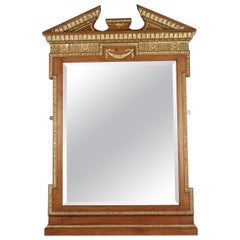 19th Century Neoclassical Mirror in Gold Giltwood and Gesso, Antique