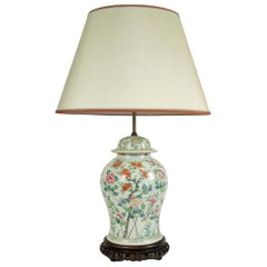 Important Chinese Porcelain Lamp, circa 1890-1900, China, Antique