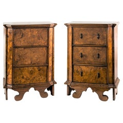 Pair of Italian Cabinets - Italy 18th Century - Italian Bedside Chest of Drawers