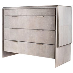 Waldorf Chest of Drawers in Cream Shagreen by R & Y Augousti