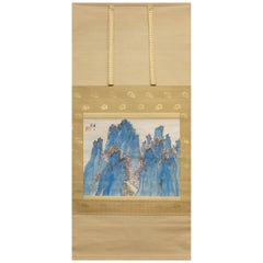 "Antique Japanese Scroll ""Horaisan Holy Mountain"""