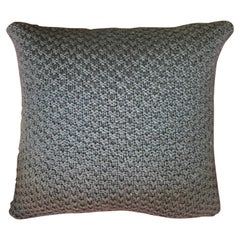 """Ostia"" Handmade Wool Blue Pillow"