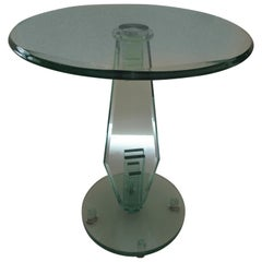Art Deco Style Sculptural Glass Side Tables in the School of Danny Lane