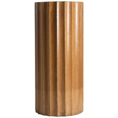 Art Deco Fluted Column Pedestal