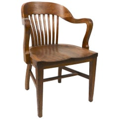 Yale Library Bank of England Oak Office Chair