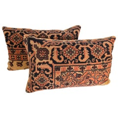 Custom Pillows by Maison Suzanne Cut From an Antique Mohair Textile, Netherlands