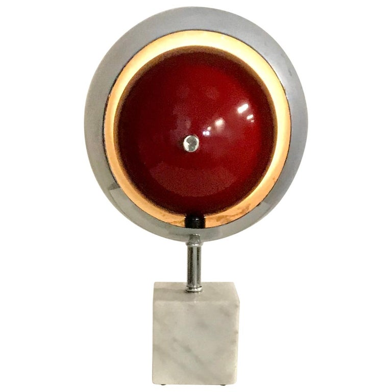 """Space Age, Modernist Chrome and Marble """"Eyeball"""" after Arredoluce For Sale"""